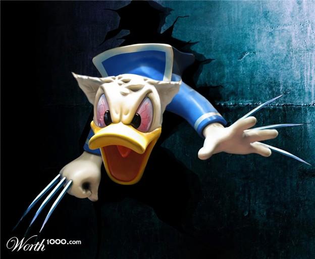 Pato Donald e Wolverine