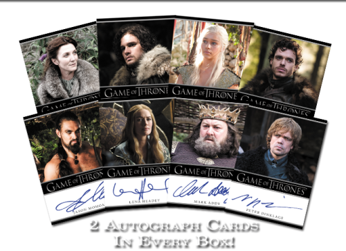 The Game of Thrones Seasons One Trading Cards