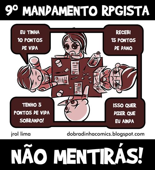 tirinha-rpg-9-mandamento-rpgista [Dobradinha Comics]