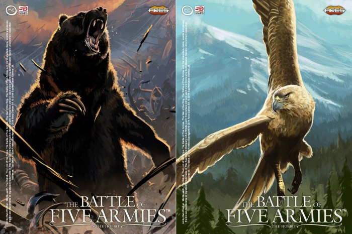 Characters-Beorn and Lord Of Eagles (Battle of Five Armies)