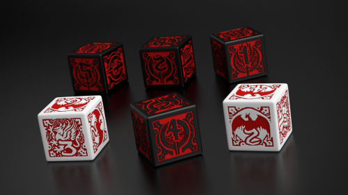Dragon Age Dice Set - 6 Dices