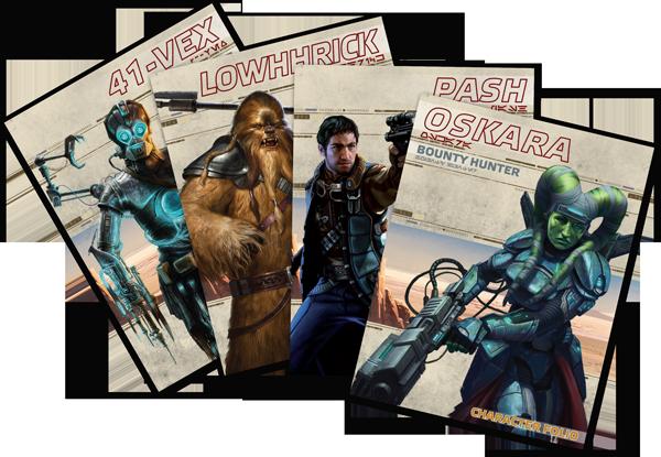 Personagens Star Wars RPG - Fronteiras do Império
